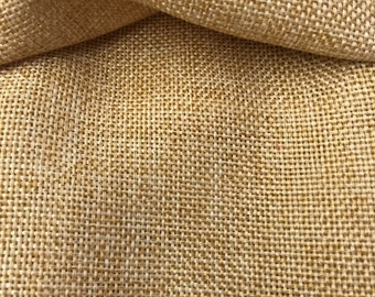 "Faux Natural Burlap Fabric | Sold By The Yard 58""/60"" Width"