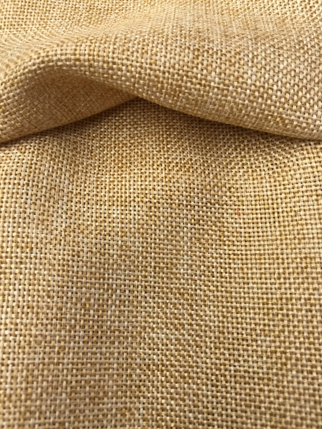 Faux natural burlap fabric sold by the yard 58 60 for What is burlap material