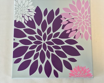 Dahlia Wall Art, Dahlia Wall Canvas