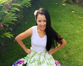 Hawaiian hula pa'u , Hula skirt, Hawaiian costume, Practice Hula skirt , Hawaiian Practice Pa'u skirt