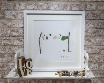 Sea Glass and Pebble Art, Limited Edition, On the Line