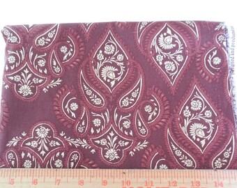 Destash- Burgundy Home Decor Fabric Remnant