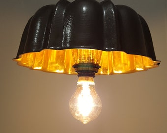 Bundt Pan Light/Repurposed Bundt Pan l&/Unique Lighting/ Antique Looking L&/ & Upcycled lighting | Etsy azcodes.com