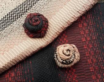 Black Lapel Flower-Red Lapel Flower-Mr and Mr Wedding-Husband Gift - Silk Lapel Flower - Men Lapel Flower - Gift for Men - Suit Lapel Flower