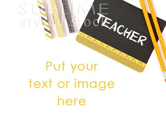 Styled Stock Photography / School Styled / Teacher / Teacher Styled / Stock Photo / Mockup / Back to Shool / Digital Image / StockStyle-704