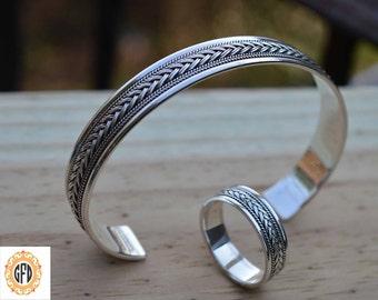 Viking bracelet, Men's gifts,Popular ASGARD bangle for men,Infinity engament Celtic ring, Nordic infinity knot bracelet.