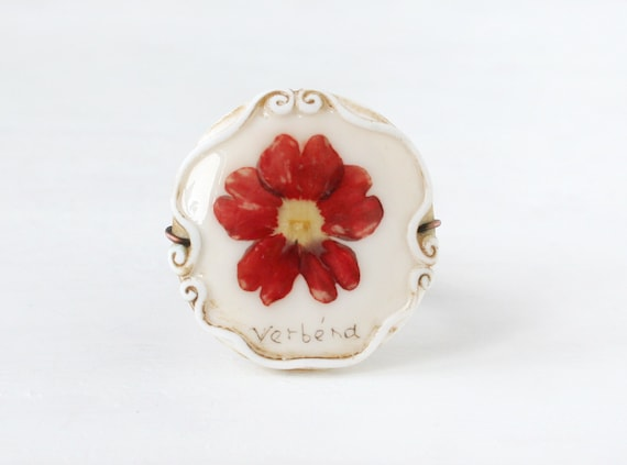 Real Flower Ring. Red Ring. Romantic Ring. Botanical Jewelry. Nature Jewelry. Nature Ring. Adjustable Size Ring
