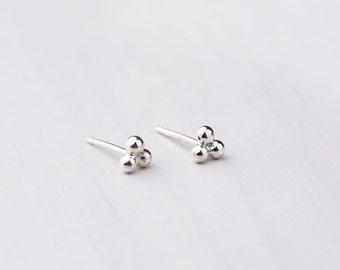 Tiny Stud Earrings minimal earrings dainty studs simple elegant earrings delicate jewelry tiny dot studs silver dot earrings tiny ball studs
