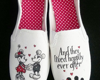 Disney Mickey and Minnie Love wedding shoes!