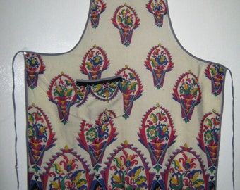 1930/40's Vintage Pinny Apron with Art Deco Print