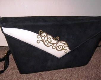 1980's Italian Leather Shoulder Bag