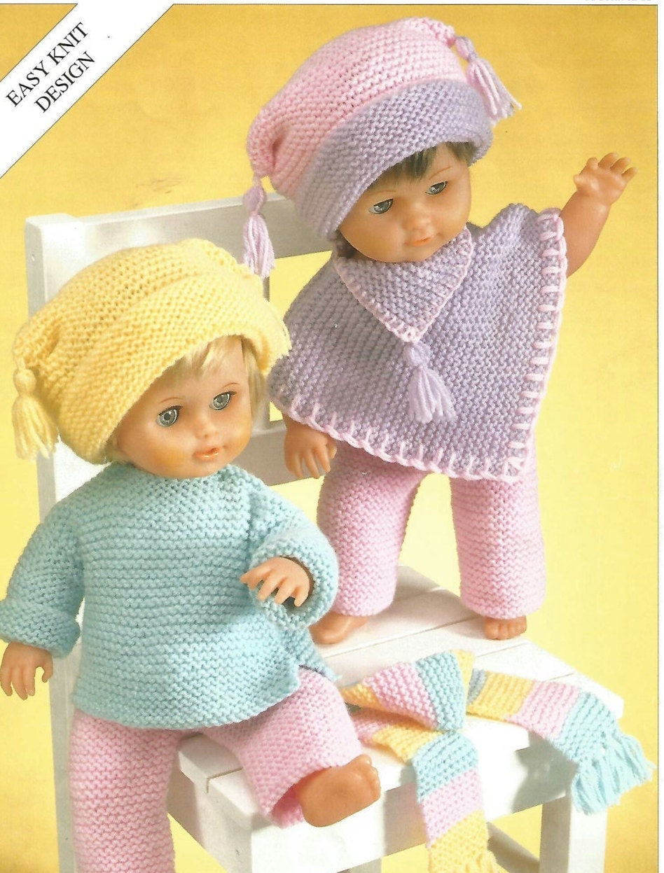 Easy Knitting Patterns For Dolls : Easy Knitting Pattern Dolls or Teddys Size 12-22in