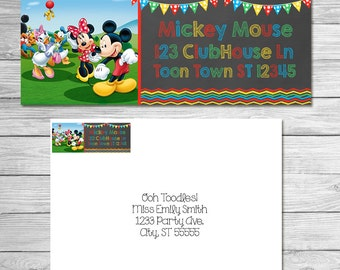 Mickey Mouse Clubhouse Return Address Labels 1 x 2 5/8 in / Mickey Mouse Clubhouse Mailing Labels / Mickey Mouse Clubhouse Shipping Labels