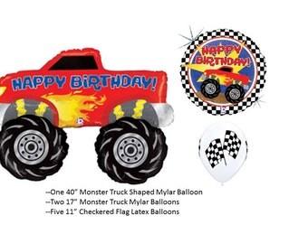 Monster Truck Balloon Set