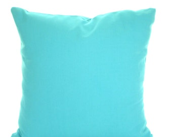 Solid Aqua Pillow Covers, Decorative Throw Pillows, Cushions Throw Pillows for Couch Decorative Pillow, Aqua Turquoise One or More All Sizes