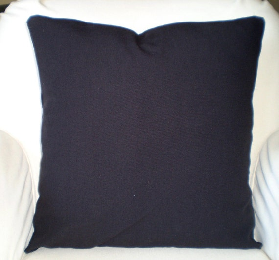 Solid Black Pillow Covers Decorative Throw by PillowCushionCovers
