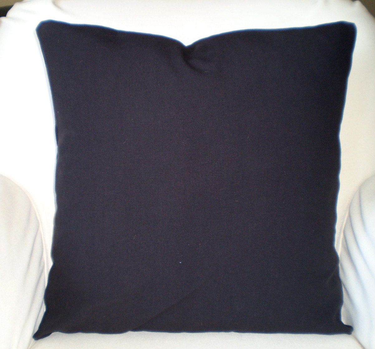 Plain Black Throw Pillow : Solid Black Pillow Covers Decorative Throw by PillowCushionCovers