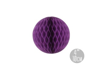 4 Inches Purple Honeycomb Balls / Purple Tissue Paper Balls