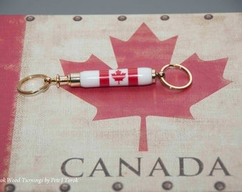 Detachable key chain, Canadian Flag