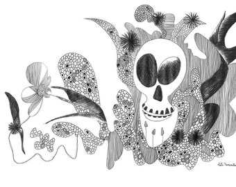 Funny flowers, reproduction A4 art fine paper