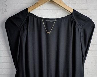 Infinity necklace, gold necklace, tiny infinity charm, gold infinity, celtic jewelry, celtic necklace, dainty necklace, everyday necklace.
