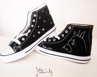 Studio Ghibli hand painted shoes series / Ghibli Logo shoes / Totoro shoes