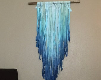 Hand dyed Fringe Wall Hanging