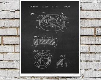 Ice Hockey Patent print #3 Hockey Puck invention art print, Boys room decor, Gift for Ice Hockey Player / Hockey fan, Winter Sports Decor