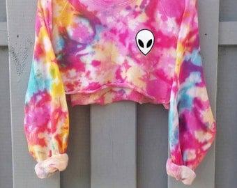 Candy Cotton Pastel Goth Sweater, blogger tumblr shirt, grunge alien