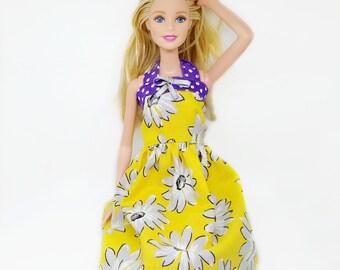 Barbie Dress - Barbie Fashion - Fashion Doll Apparel  - Barbie Costume - Barbie Clothes - Custom Doll Clothes - Dresses for Barbie