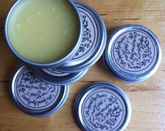 VEGAN Mint and Lavender Lip Balm - lip salve, lip butter, vegan lip balm, chapstick, vegan lip salve