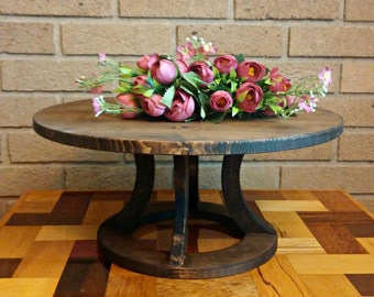 Wedding Cake Stand, Reclaimed wood, Round Cake Stand, Rustic Cake Stand, Country Wedding decor