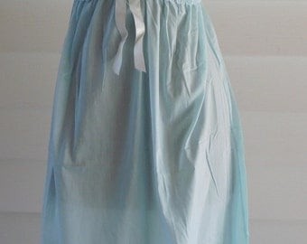 Vintage Lingerie Baby Blue Cotton Slip Dress Nightgown by Joy Form