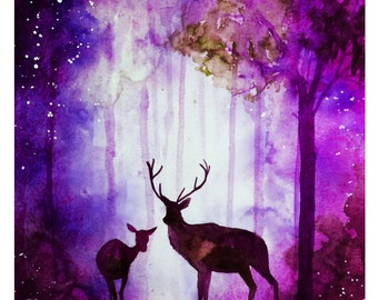 Enchanted Woods Print - Pink Edition