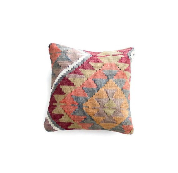 Turkish Kilim Throw Pillows : kilim pillow cover tribal throw pillow boho pillow turkish