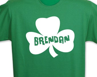 Personalized Shamrock Adult T-shirt, Personalized Irish Shamrock Adult T-Shirt, Irish Name Shirt