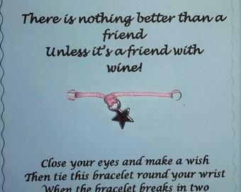 Friend gift, Friend bracelet, Friendship gift, String Wish Bracelet , Friendship Bracelet, Bracelet, friend, Cord bracelet, Friends gifts