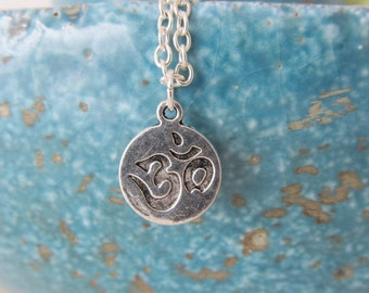 Om necklace, yoga necklace, om jewelry