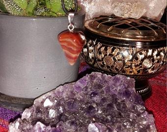 Red Agate Wearable Pendulum, Pendant!