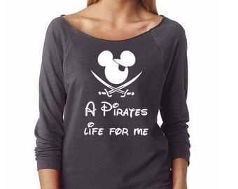 "Disney Pirate Shirt, Mickey Pirate Shirt, ""A Pirates Life for Me"", Mickey Mouse Shirts, Pirates of the Caribbean Shirt, Jack Sparrow Shirt"