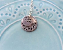 CTR Baptism Gift, Girl's CTR LDS Mormon Necklace, Choose the Right, Latter-day Saints, Baptism Present, Birthstone, Sterling Silver