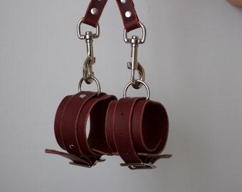 Oxblood Wrist & Ankle Cuff Bracelets