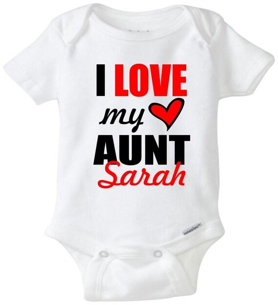 i love my aunt onesie baby onesie aunt onesie by