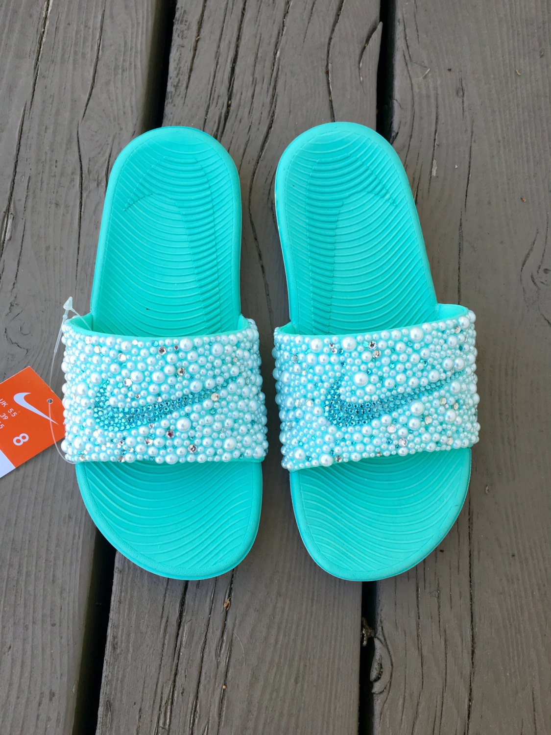Bedazzled Nike Slides