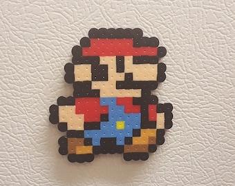Mario Perler bead art, pixel art, Mario bead sprite, 8 bit, Super Mario Bros, super smash, luigi, toad, princess peach, bowser, koopa, small