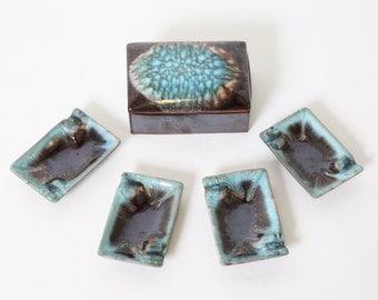 Ceramic Smoking Set - Rare Vintage, Japan