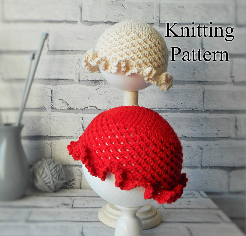 Knitting Kfb Twice : Sun hat knitting pattern pdf digital download double knit