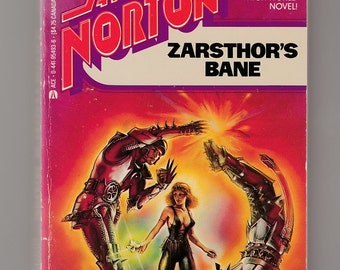 Andre Norton-Zarsthor's Bane-Vintage Ace Paperback Book Classic Science Fiction Illustrated Witch World Novel Evan TenBroeck Steadman Art