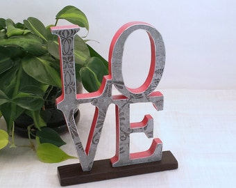 LOVE Sign - Wooden Word Sign - Wood Letters - Valentine Decor - Wooden Sign - Wood LOVE Sign - Word Art Sign - Mantel Sign - Wood Sign