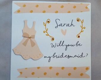Personalised Bridesmaid Request Card